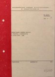 Produktywność środków trwałych w przemyśle i budownictwie w latach 1978-1980