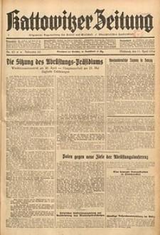 Kattowitzer Zeitung, 1934, Jg. 66, Nr. 83