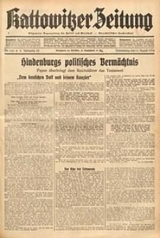Kattowitzer Zeitung, 1934, Jg. 66, Nr. 186