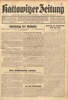 Kattowitzer Zeitung, 1934, Jg. 66, Nr. 191