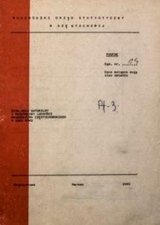 Stan, ruch naturalny i wędrówkowy ludności województwa częstochowskiego w 1981 roku