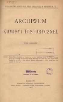 Archiwum Komisyi Historycznej. T. 7