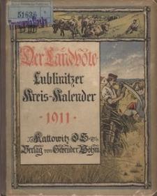 Der Landbote. Lublinitzer Kreiskalender für das Jahr 1911