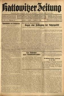 Kattowitzer Zeitung, 1935, Jg. 67, Nr. 42