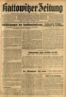 Kattowitzer Zeitung, 1935, Jg. 67, Nr. 254