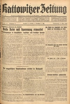 Kattowitzer Zeitung, 1939, Jg. 71, Nr. 121