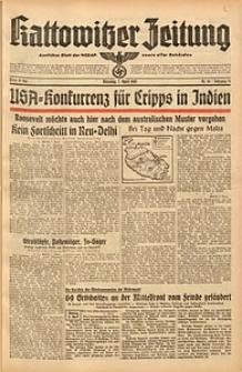 Kattowitzer Zeitung, 1942, Jg. 74, Nr. 94