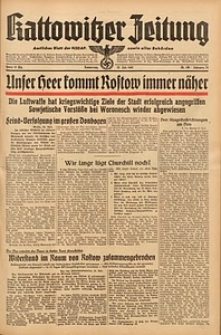 Kattowitzer Zeitung, 1942, Jg. 74, Nr. 198
