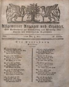 Allgemeiner Anzeiger und Erzähler, 1830, nr 4