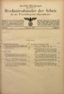 Amtliche Mitteilungen, 1943, Jg. 3, Nr. 17