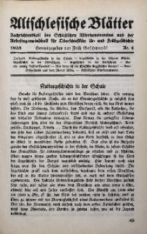 Altschlesische Blätter, 1928, Jg. 3, Nr. 4