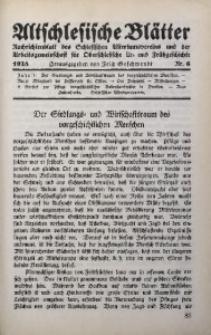 Altschlesische Blätter, 1928, Jg. 3, Nr. 6