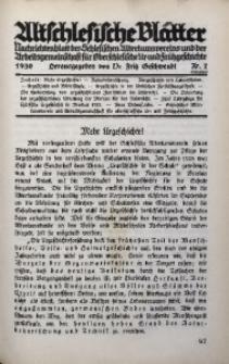 Altschlesische Blätter, 1930, Jg. 5, Nr. 7