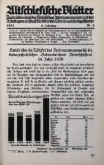 Altschlesische Blätter, 1931, Jg. 6, Nr. 3