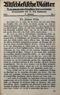 Altschlesische Blätter, 1934, Jg. 9, Nr. 3
