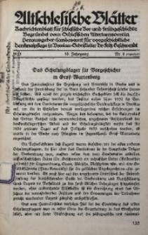 Altschlesische Blätter, 1935, Jg. 10, Nr. 6