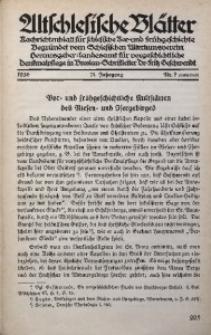 Altschlesische Blätter, 1936, Jg. 11, Nr. 7