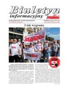 """Biuletyn Informacyjny """"Solidarność"""" 2012, nr 6 (337)."""