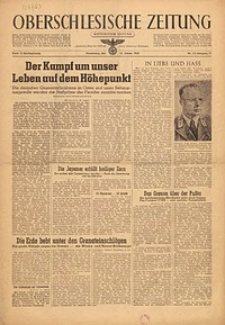 Oberschlesische Zeitung, 1945, Jg. 77, Nr. 15