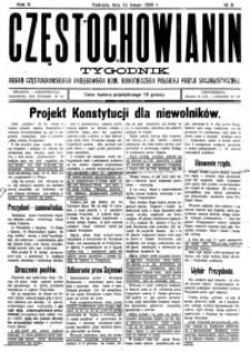 Częstochowianin, 1929, R. 3, nr 8