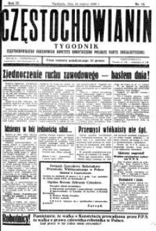 Częstochowianin, 1929, R. 3, nr 12