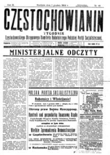 Częstochowianin, 1929, R. 3, nr 49
