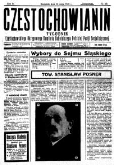 Częstochowianin, 1930, R. 4, nr 20