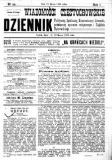 Wiadomości Częstochowskie, 1906, R. 1, nr 22