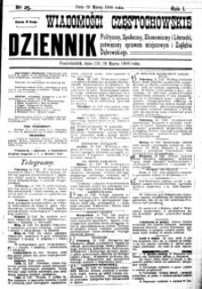 Wiadomości Częstochowskie, 1906, R. 1, nr 25