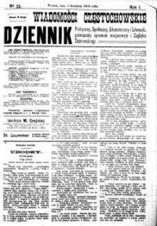 Wiadomości Częstochowskie, 1906, R. 1, nr 33