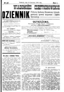 Wiadomości Częstochowskie, 1906, R. 1, nr 56