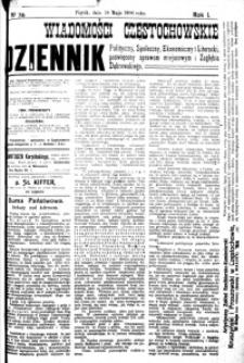 Wiadomości Częstochowskie, 1906, R. 1, nr 74