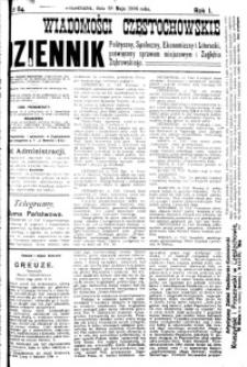 Wiadomości Częstochowskie, 1906, R. 1, nr 84