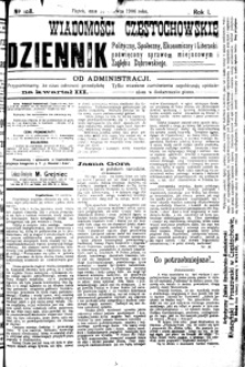 Wiadomości Częstochowskie, 1906, R. 1, nr 108