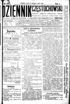 Dziennik Częstochowski, 1906, R. 1, nr 166