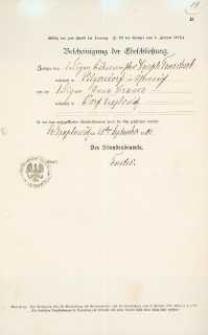 Akt zawarcia małżeństwa z 28.09.1903 r.
