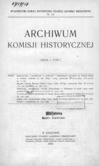 Archiwum Komisji Historycznej. Serja 2. T. 1 = 13