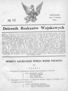 Dziennik Rozkazów Wojskowych, 1918, R. 1, nr 10