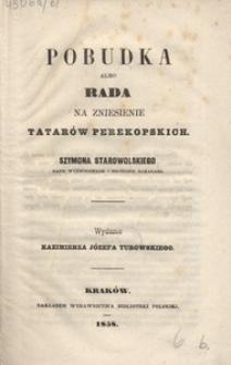 Pobudka albo rada na zniesienie Tatarów Perekopskich
