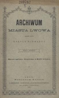 Archiwum miasta Lwowa