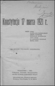 Konstytucja 17 marca 1921