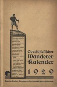 Oberschlesischer Wanderer-Kalender, 1929