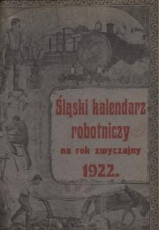 Śląski Kalendarz Robotniczy na Rok 1922