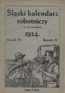 Śląski Kalendarz Robotniczy na Rok 1924