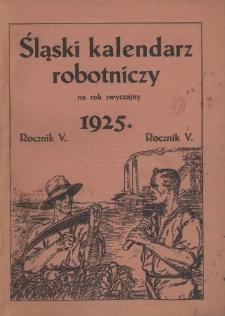 Śląski Kalendarz Robotniczy na Rok 1925