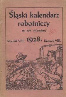 Śląski Kalendarz Robotniczy na Rok 1928