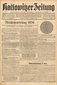 Kattowitzer Zeitung, 1934, Jg. 66, Nr. 203