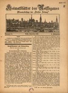 Heimatblätter des Neissegaues, 1929, Jg. 5, Nr. 9