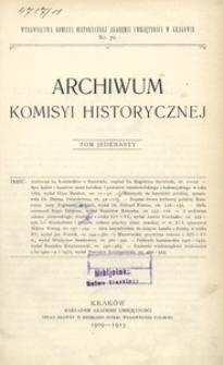 Archiwum Komisyi Historycznej. T. 11