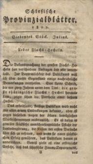 Schlesische Provinzialblätter, 1802, 36. Bd., 7. St.: Julius